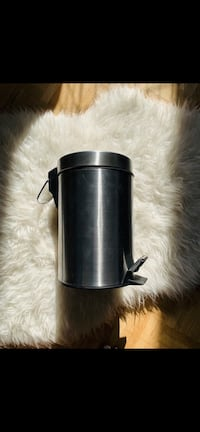 Small stainless steel garbage can