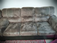 brown suede 3-seat sofa Surrey, V3T
