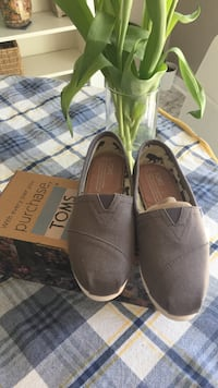 BRAND NEW TOMS - Ash Canvas sz 5.5 WMN