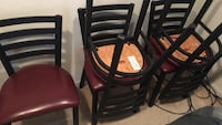 These are official Chickfila tables and chairs 7 chairs and 2 tables. I worked for them and we closed for remodel they gave it to us. We have to move and don't have room for it all.  Sterling, 20164