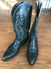 BLACK DAN POST MEN LEATHER BOOTS SIZE 10 Lancaster