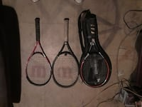 Hardly used 3 tennis rackets 2 Wilson 1 prince  Silver Spring, 20906