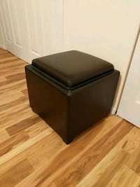 Leather stool with storage 25 mi