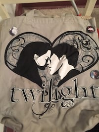 Twilight bag with buttons attached
