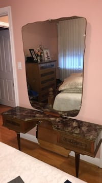 Brown wooden dresser with mirror Toronto, M9R 1X8