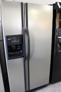 silver side by side door refrigerator Dale City, 22193