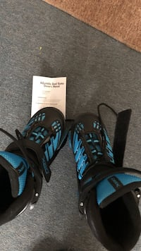 black-and-blue inline skates 143 mi