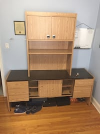 Large Wood Desk With Storage Toronto