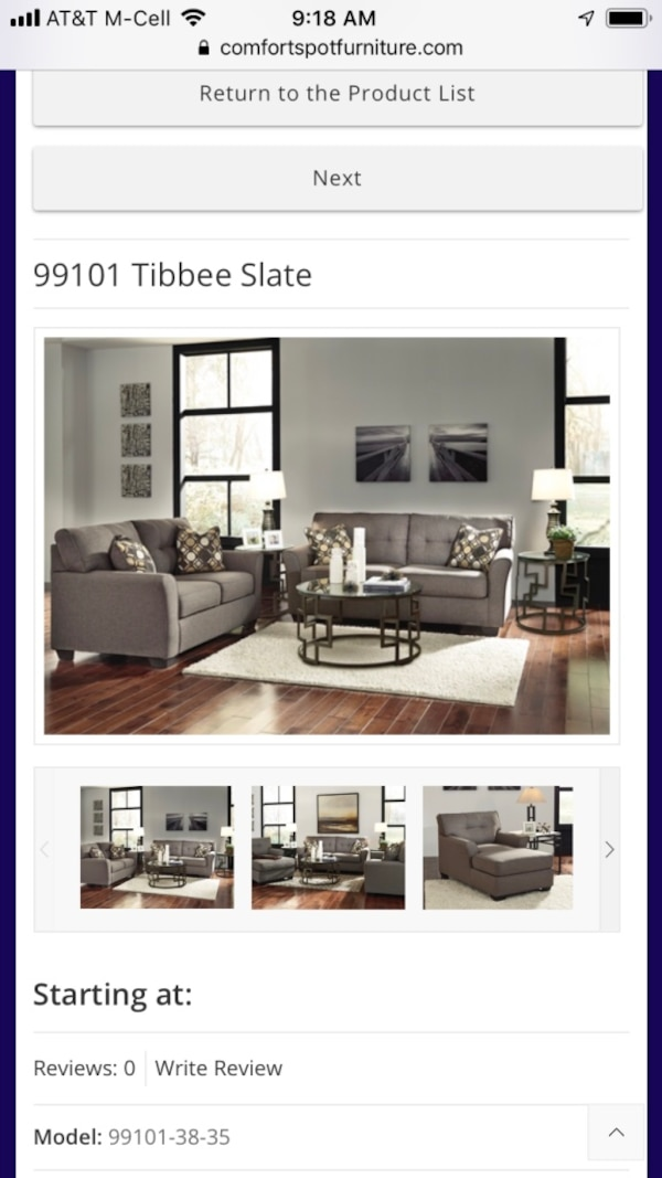 tibbee slate sofa and love usado en venta en balch springs letgo