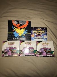 5 booster boxes- hidden fates, unified minds, & digimon series 2! Toronto, M9A 0B7
