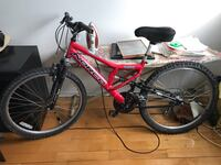 red and black full-suspension bike Montréal, H2A 1X4