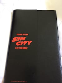 "RARE//COLLECTABLE/Sin City ""ORIGINAL SKETCH BOOK"" Signed By FRANK MILLER ONLY 500 was printed/NEGOTIABLE Los Angeles, 90041"