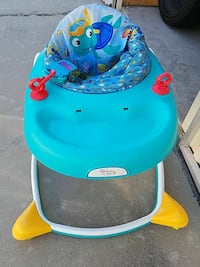 baby's blue and white Baby Einstein walker Fresno, 93711