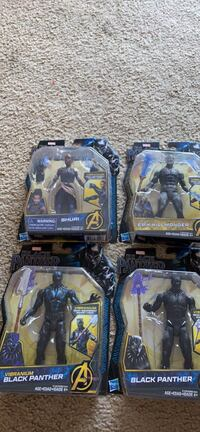 4 brand new black panther action figures