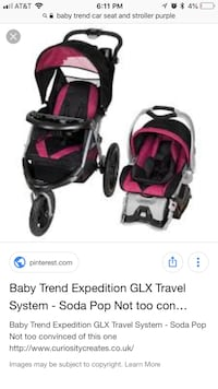 baby's black and pink travel system screenshot White City, 97503