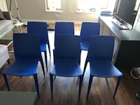 Design Within Reach - set of 6, Bellini Chairs, blue Chicago, 60654