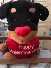 red and black bear plush toy Houston, 77036
