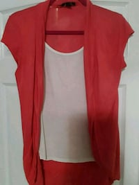 women's coral & cream top Erie, 16509
