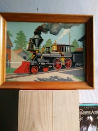 Original hand-painted of train from the fifties Philadelphia, 19131