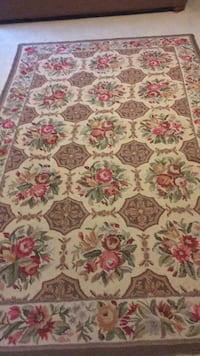 white, red, and green floral area rug Covington, 30016