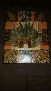 One of a kind Custom African Mask Canvas 16x20 Somerset, 02725