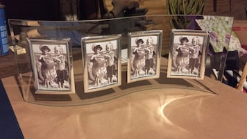 Clear glass collage photo frame