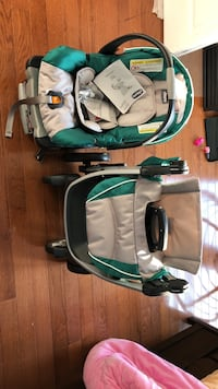 Baby carriage + car seat 34 km