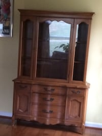 brown wooden frame glass display cabinet Reisterstown, 21136