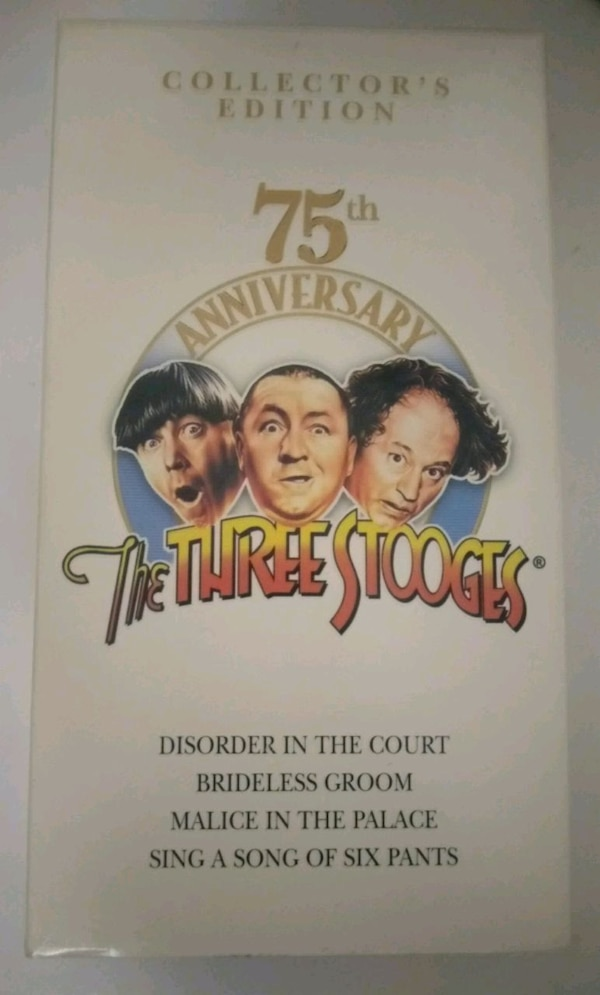 three stooges collectible VHS tape