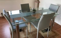 Rectangular glass top table (chairs not included) Neptune, 07753