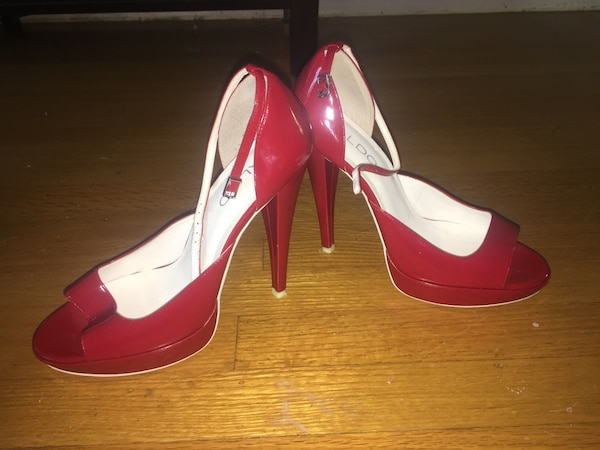 0004fc85c592 red patent leather open toe pumps. HomeFashion and Accessories West  Vancouver