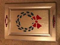 Christmas Wreath Serving Tray  709 mi