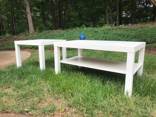 used ikea coffee table and end table set for sale in raleigh letgo. Black Bedroom Furniture Sets. Home Design Ideas