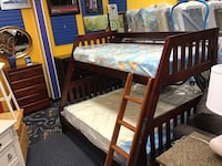 Solid Wood Twin/Full Bunk Bed Virginia Beach, 23462