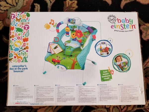 a9232ba4a607 Used Baby Einstein Caterpillar s Day at the Park Bouncer for sale in ...