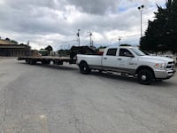 Commercial flatbed trailer. ( Truck not for sale)