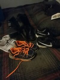 pair of black-and-white Nike basketball shoes Ocean Springs, 39564