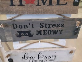 Handmade reclaimed wood sign