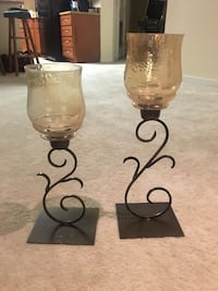 Metal candle holder set Takoma Park