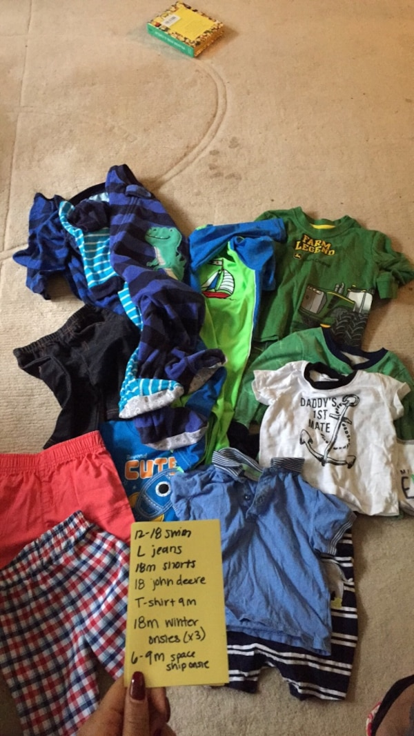 toddler's assorted-color clothes lot