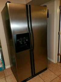 stainless steel side-by-side refrigerator with dis Laredo