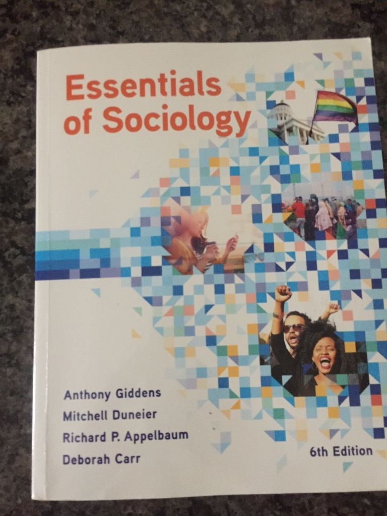 Photo Essentials of Sociology textbook