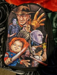 Horror character backpack for adult's with cables. Manchester, 03103