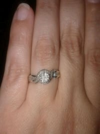 Sterling silver size 6 diamond ring Anderson, 29625