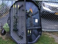 black and gray compound bow Greenfield, 12850