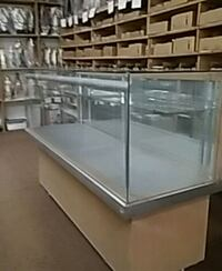 white wooden framed glass display counter Chicago, 60623