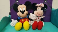 """Disney Minnie And Mickey Mouse Plush 14"""" Tall Henderson, 89074"""