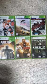 six Xbox 360 game cases Barrie, L4M 7P5