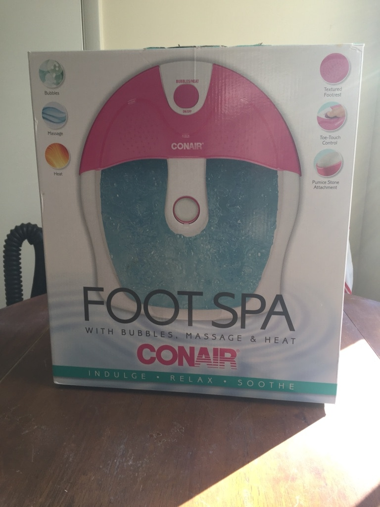 white and pink Conair foot spa box for sale  Randleman