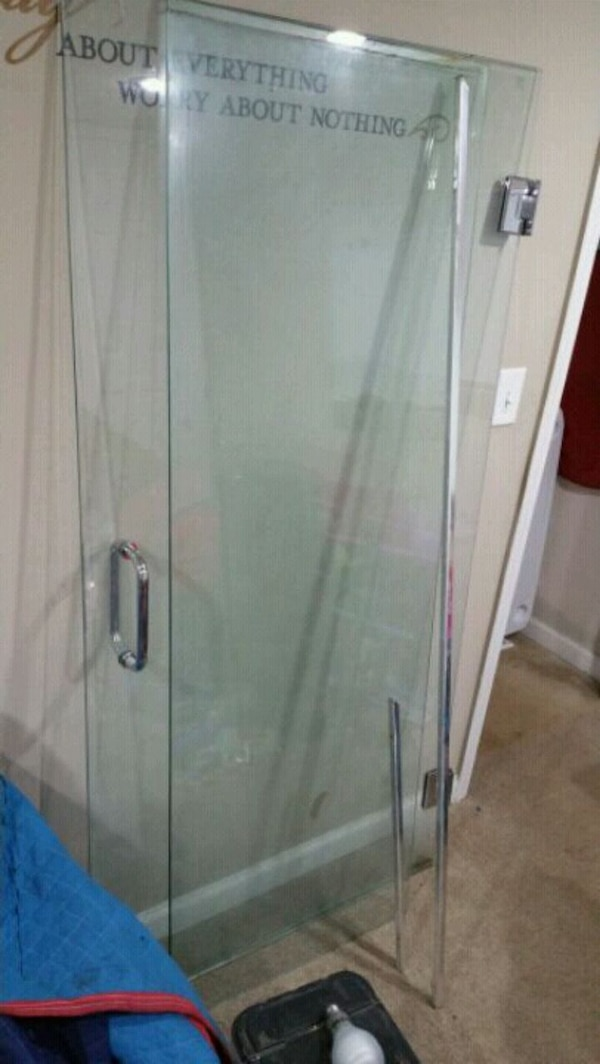 Used Two Gray Metal Frame Glass Doors For Sale In Smyrna Letgo